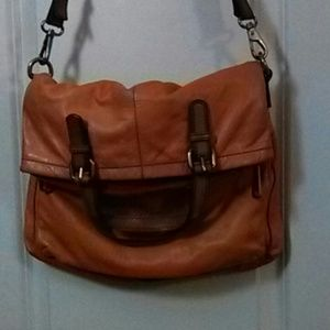 Fossil Explorer Fold Over Leather Crossbody Bag
